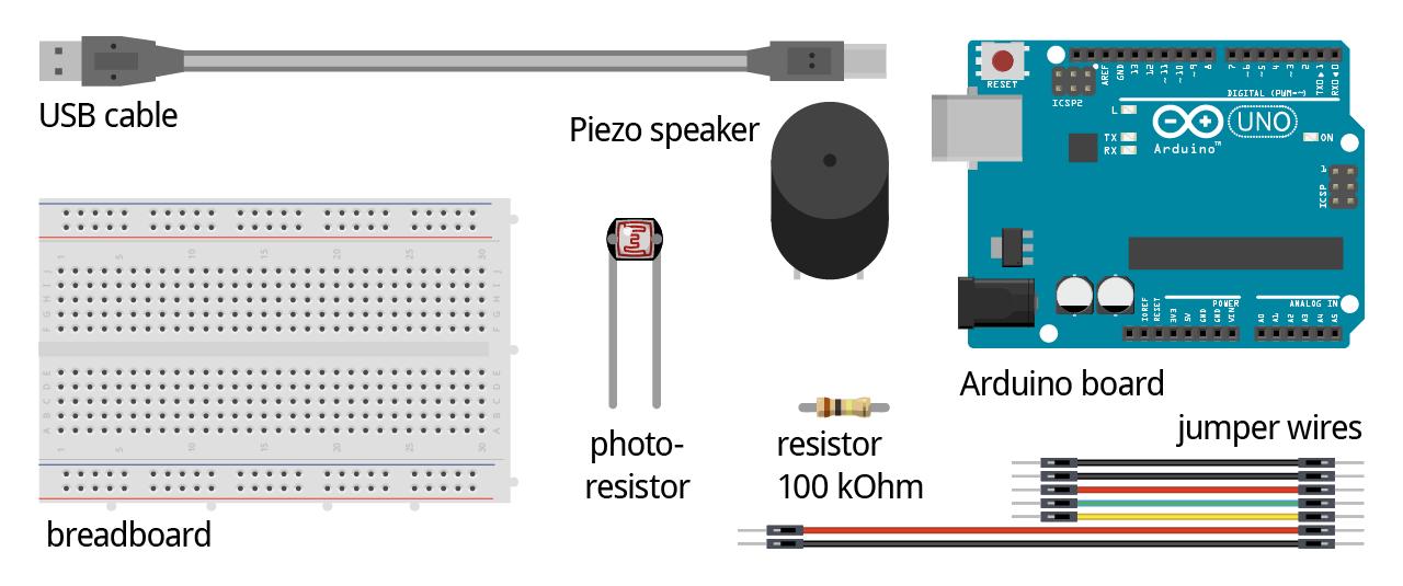 Arduino Analog input ldr photo resistor parts