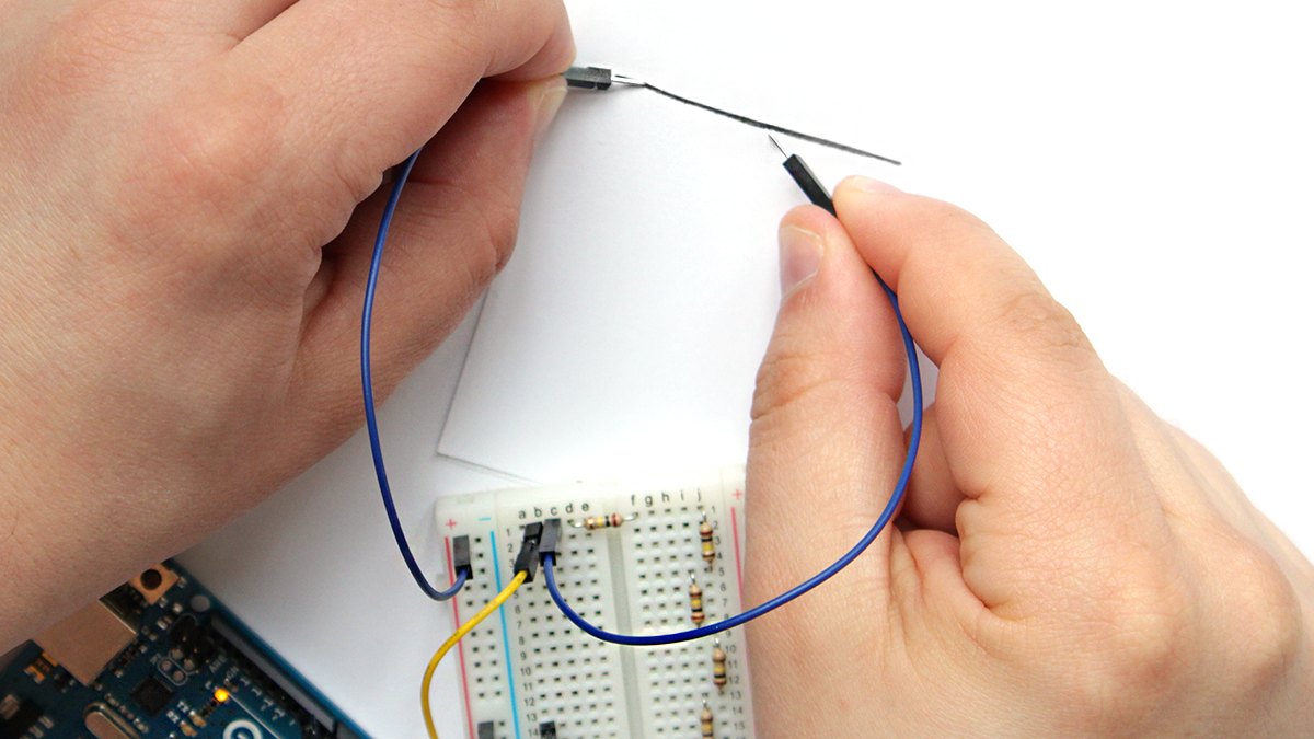 Arduino touch sensitive instrument foto