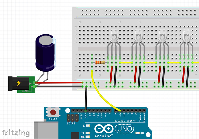 Arduino WS2812 - The easiest way to control many LEDs with