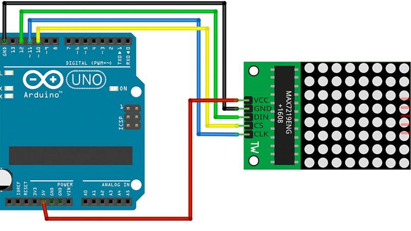 Arduino LED Matrix Max7219 Tutorial
