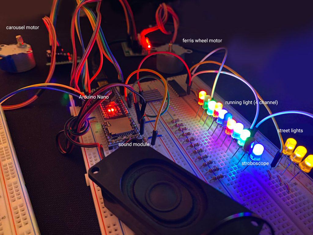 RaylFX effects for model railroad and model making with Arduino Nano fairground module overview