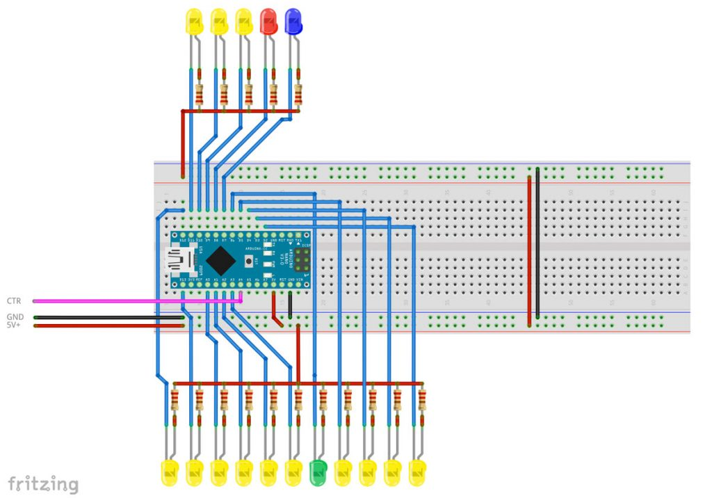 RaylFX Settlement City Village Lighting Arduino LED Circuit Wiring Diagram