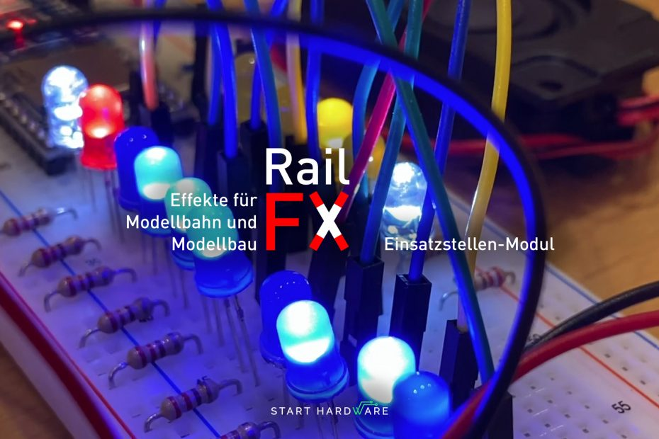 RaylFX operation site flashing blue light, siren, MP3 player with Arduino Nano