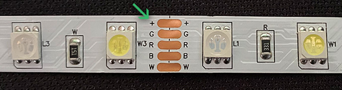 Arduino RGBW-LED strip common anode