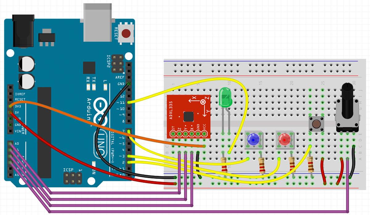 Arduino Accelerometer Alarm