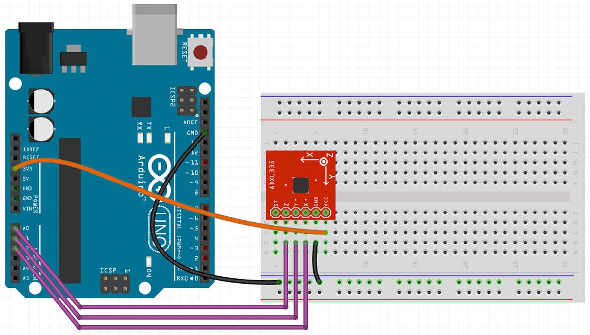 Arduino Accelerometer Einfach