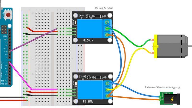 Arduino Motorsteuerung per Relais