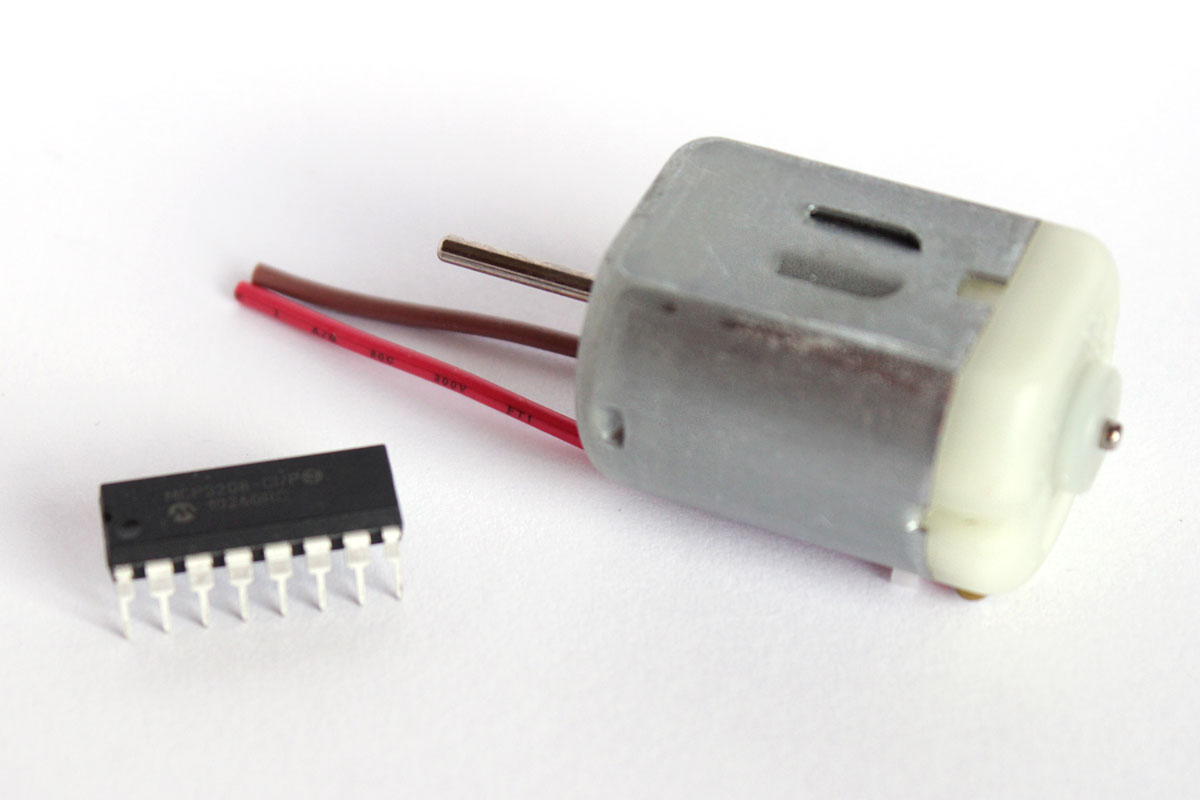 Motorsteuerung mit einem H-Bridge IC