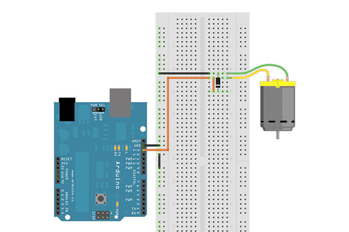 Motorsteuerung direkt per Arduino
