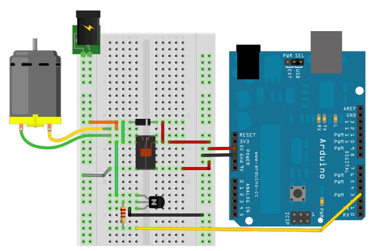 Arduino Motorsteuerung Relais