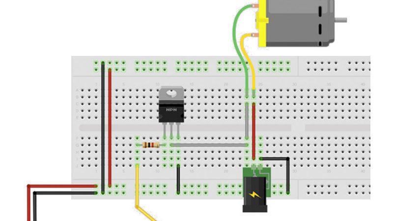Arduino Motorsteuerung Transistor