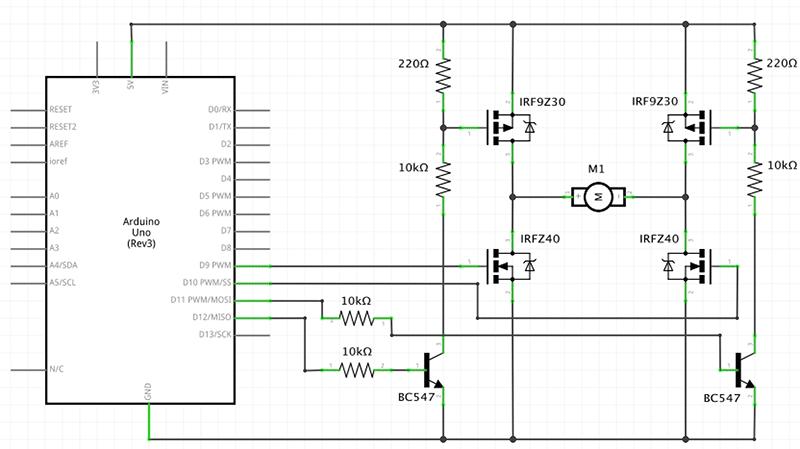 mos-fet-h-bridge-schematics