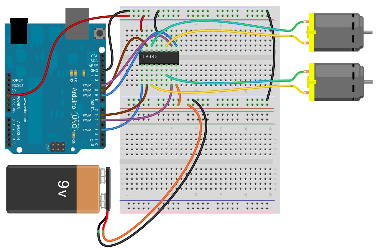 Motorsteuerung mit einem H-Bridge IC - Arduino Tutorial
