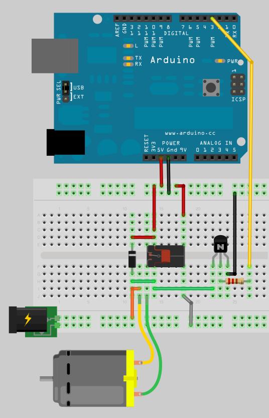 Motorsteuerung mit einem Schaltrelais - Arduino Tutorial