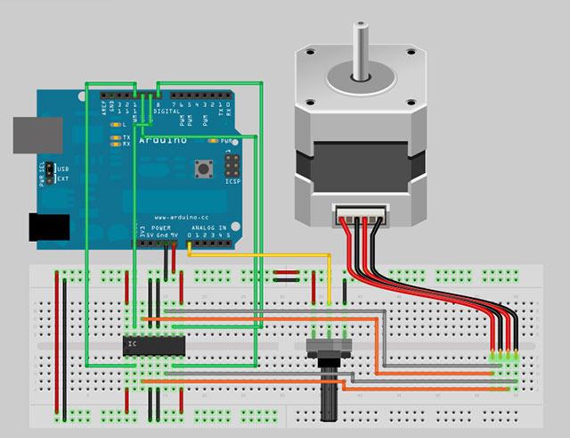 Motorsteuerung eines Schrittmotors (Stepper Motor) - Arduino Tutorial