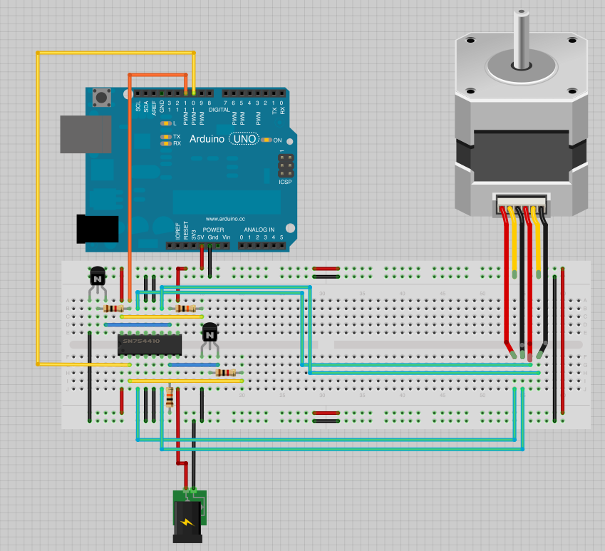 arduino servo schematic with Schrittmotor on 51987 Arduino Ir Proximity Detector moreover Schrittmotor likewise Arduino Hexapod Part 3 Remote Control further How To Use A Rotary Encoder In A Mcu Based Project together with Adding Soft Start To Water Pump Motors.