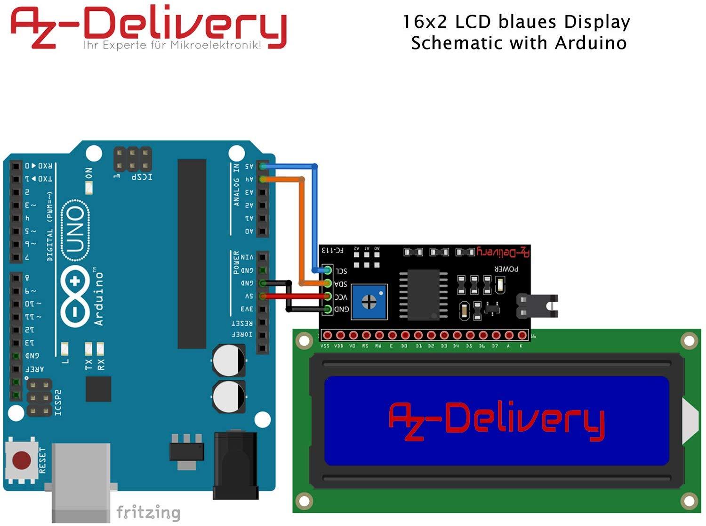 LCD Display mit Arduino und I2C