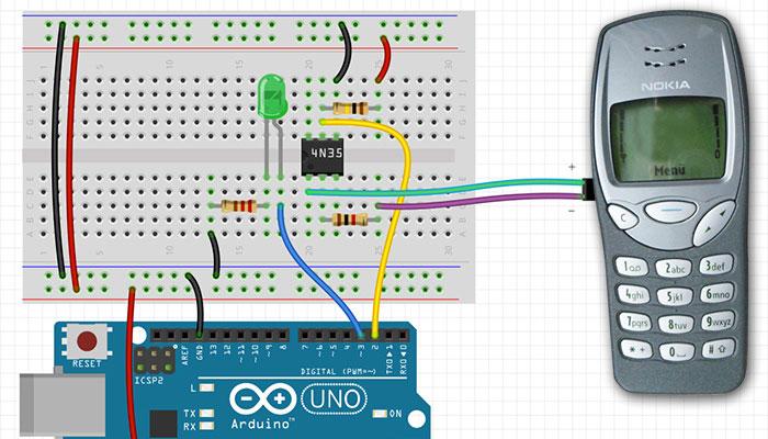 Mobiltelefon als Input für Arduino