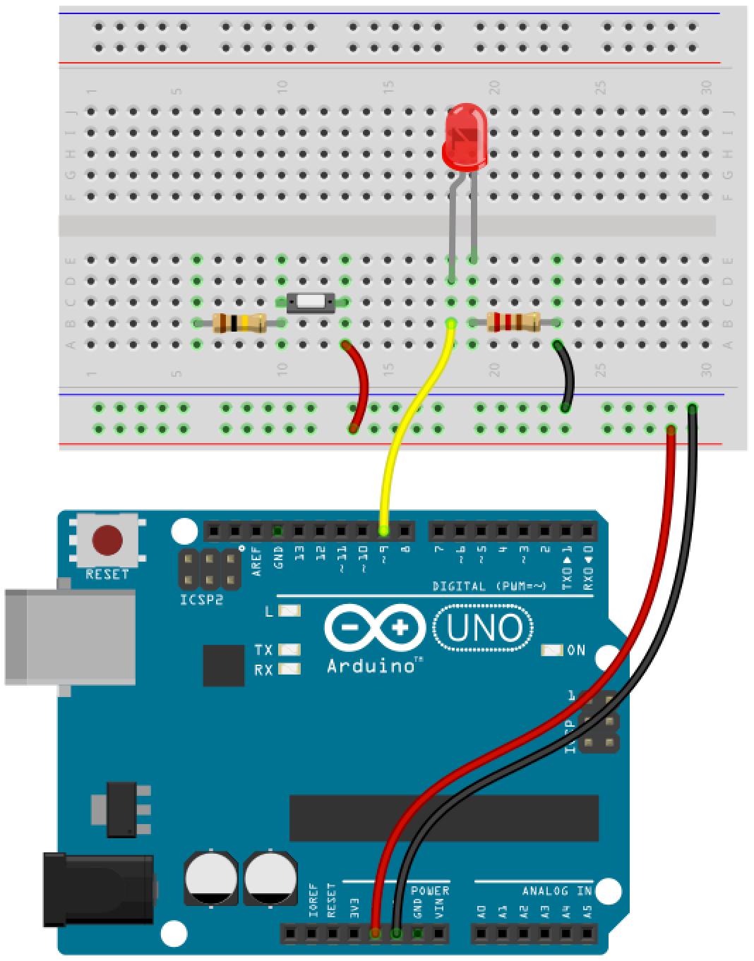 Arduino button circuit 9