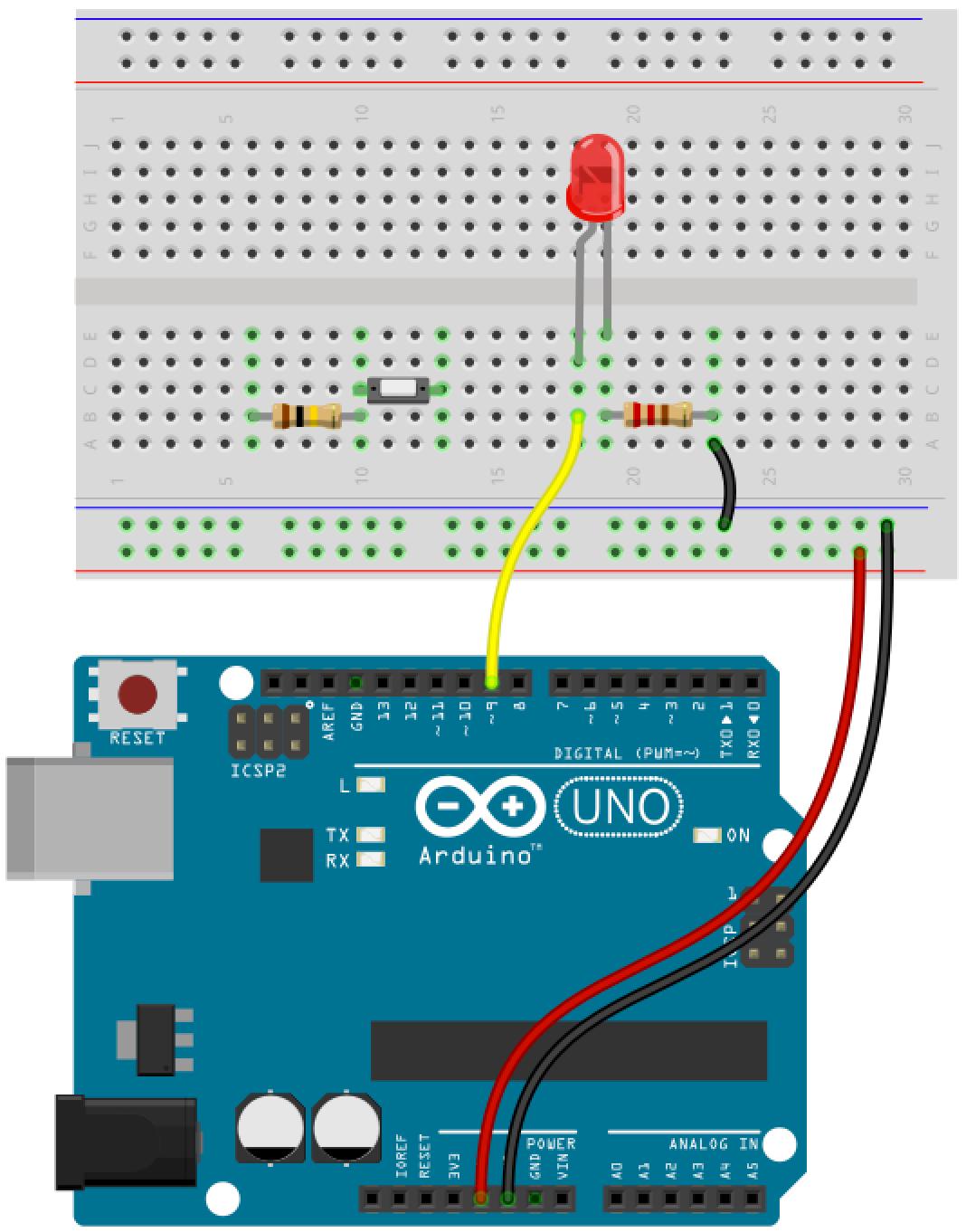 Arduino button circuit 8