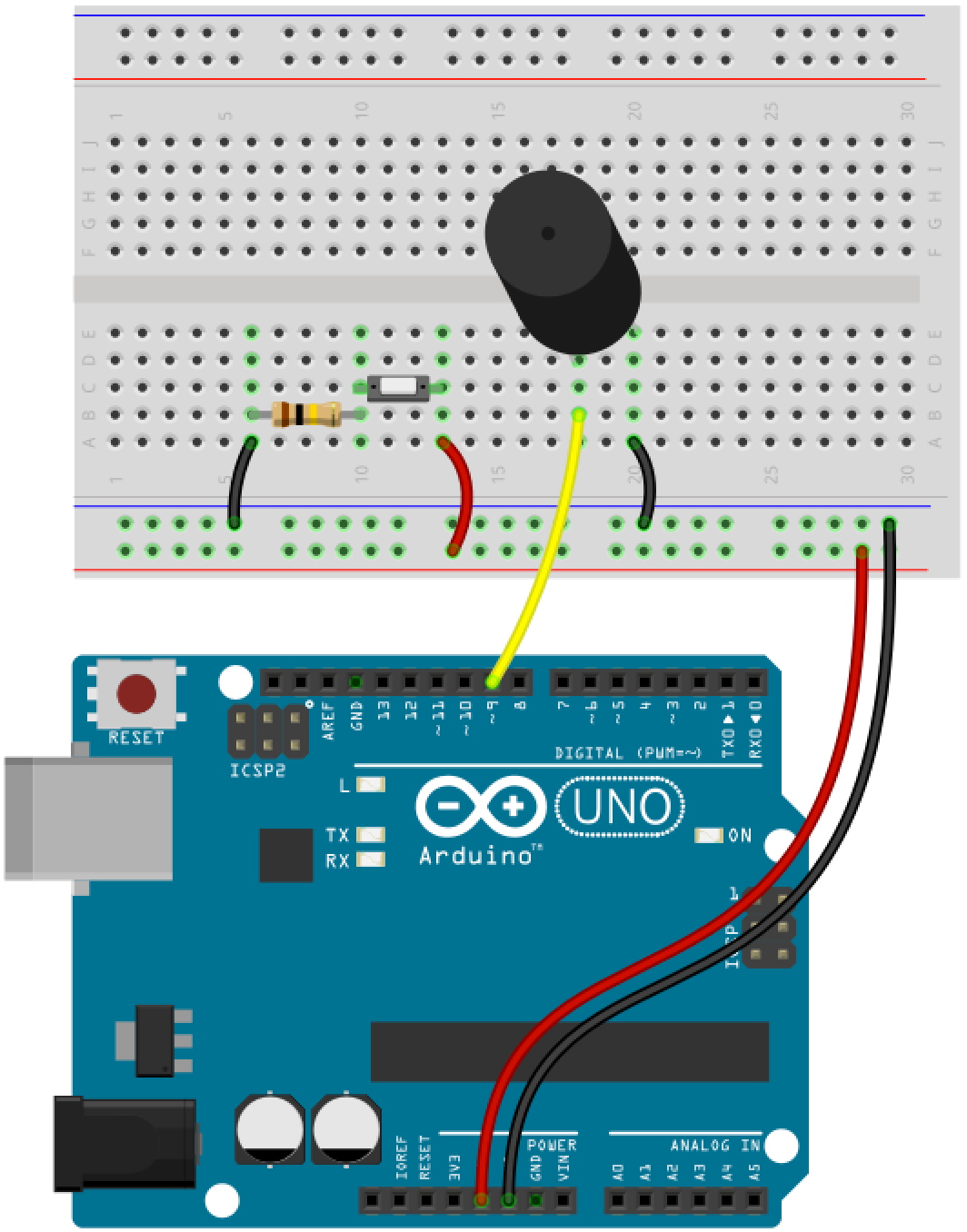 Circuit Piezo Button