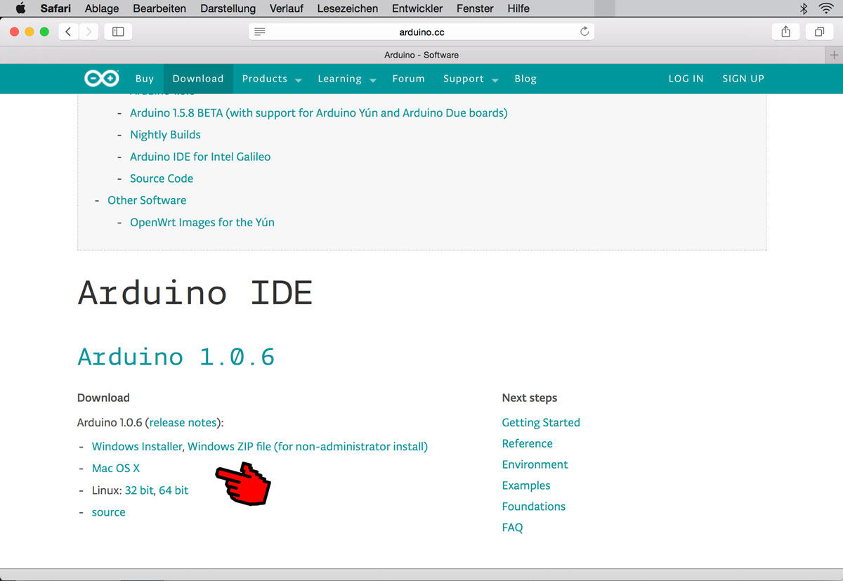 Arduino Website