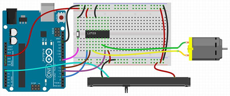 Motorfader Arduino Schaltung