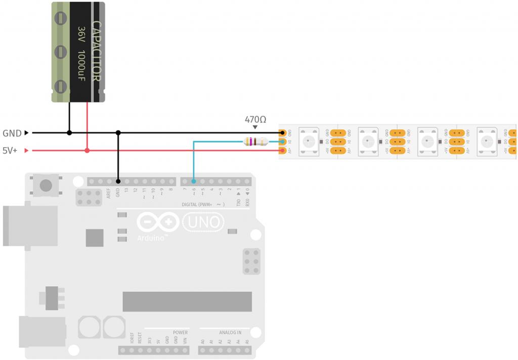 Arduino und WS2812 LED Strip