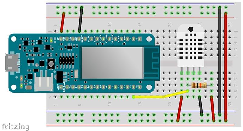 Arduino MKR1000 mit DHT22