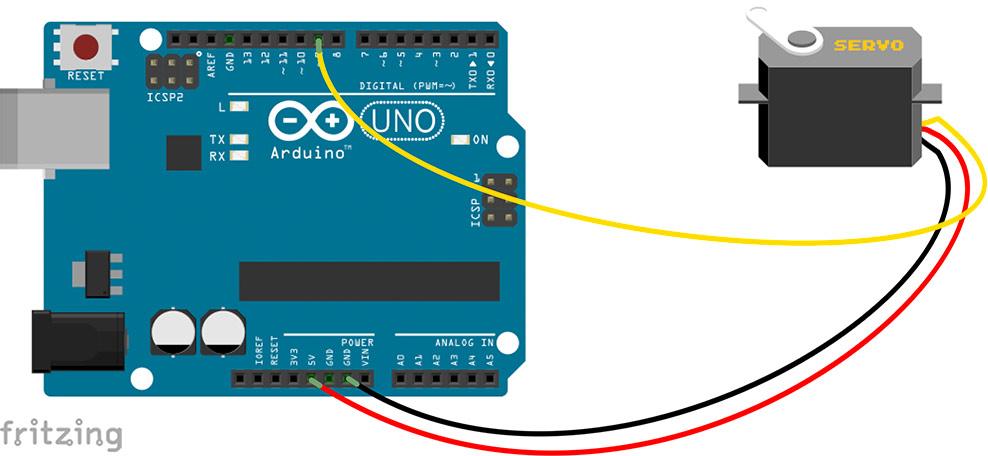 der servomotor bringt bewegung in arduino arduino tutorial. Black Bedroom Furniture Sets. Home Design Ideas