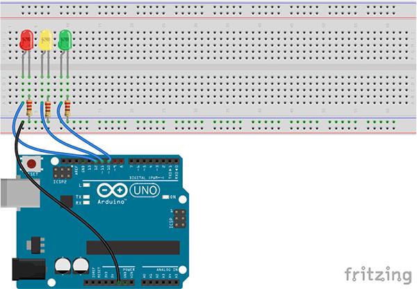 Arduino Schaltung Ampel Verkehrsampel