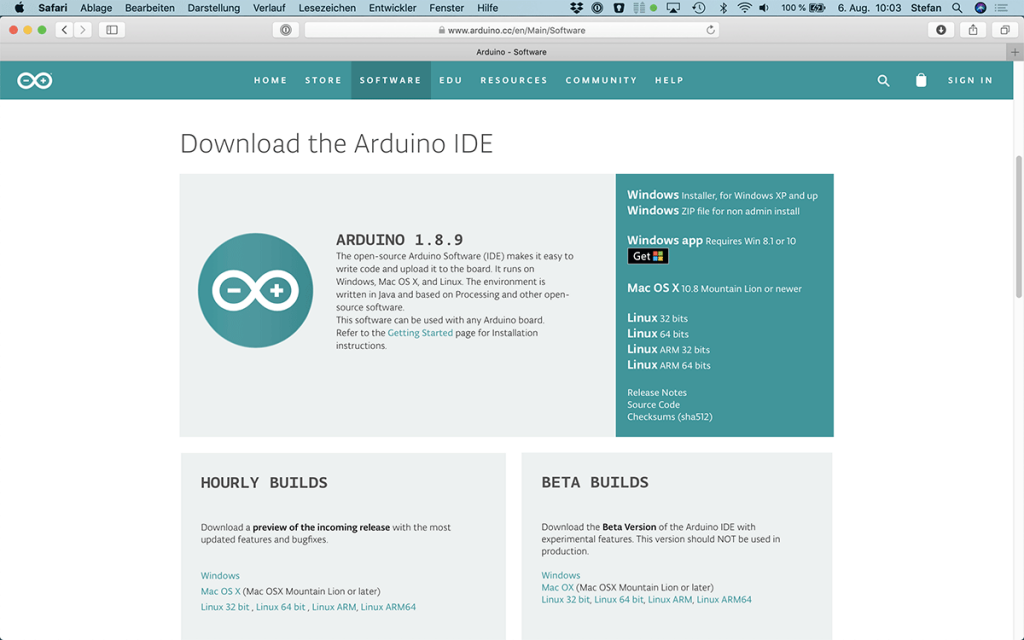 Arduino Download Page