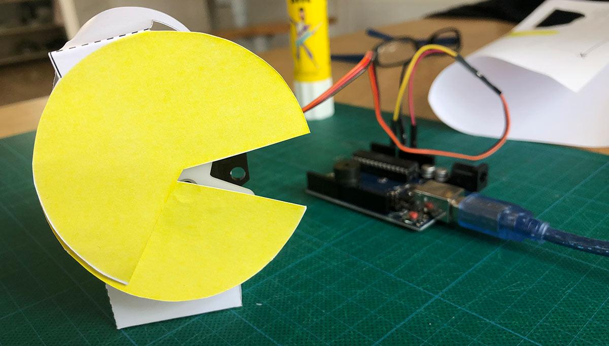 Arduino Pacman für den Schreibtisch