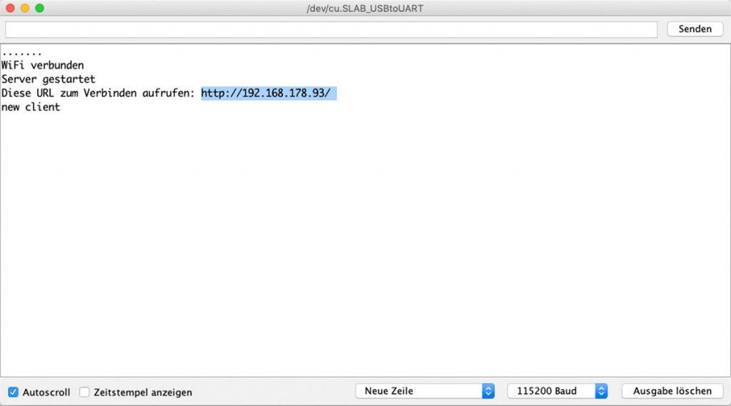 Arduino Wifi mit dem ESP8266 als Arduino – IP herausfinden