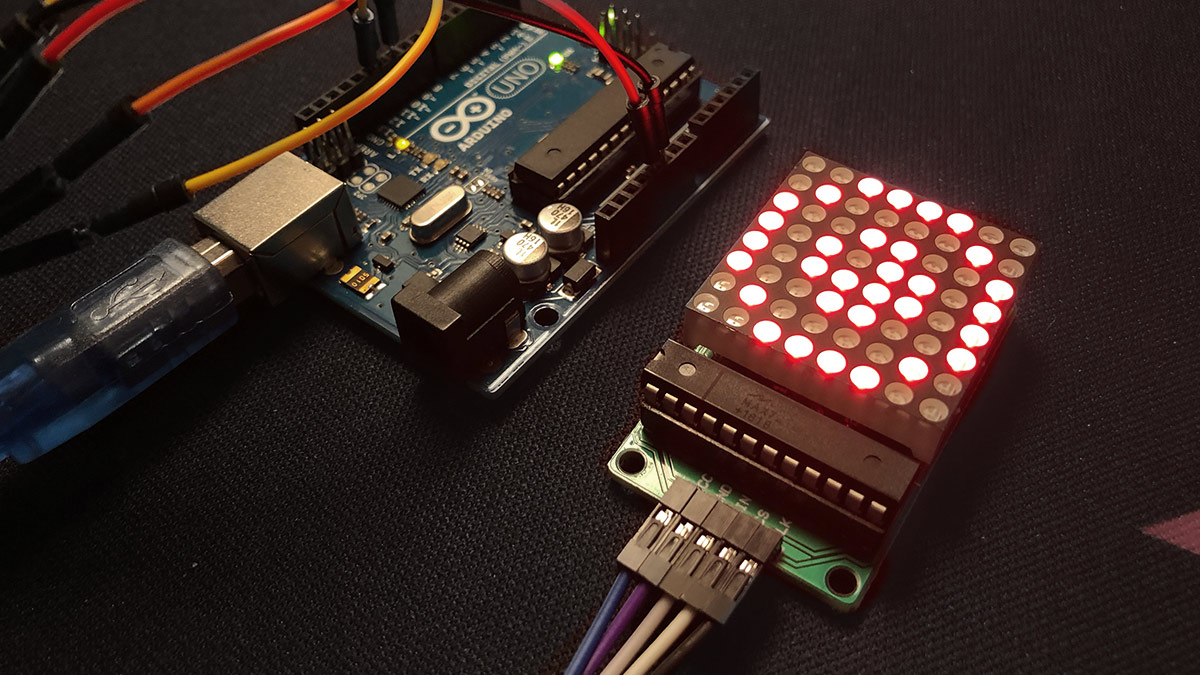 Arduino LED-Matrix mit Max7219 Treiber