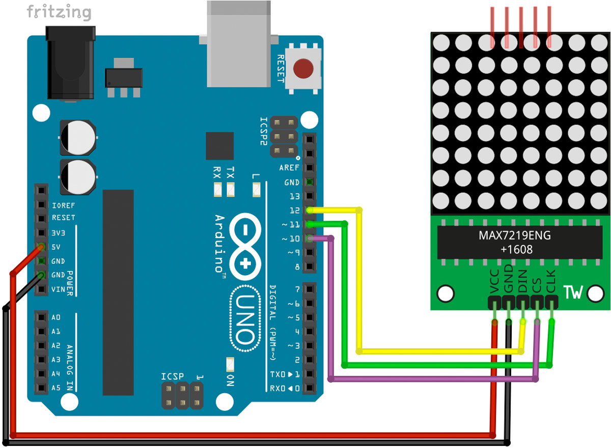 Arduino LED-Matrix Max7219