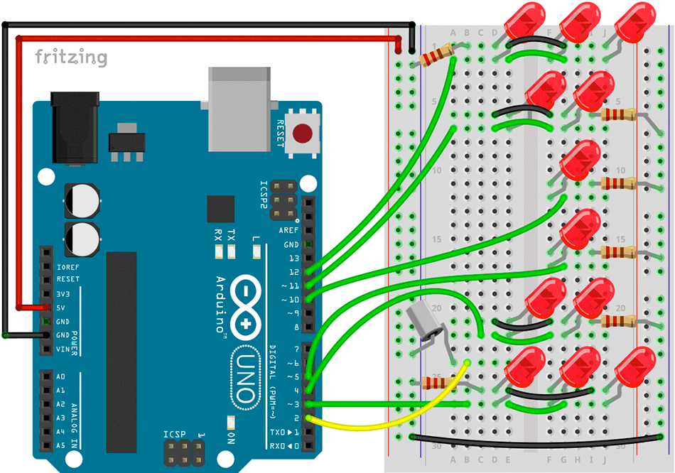 Sanduhr mit Arduino