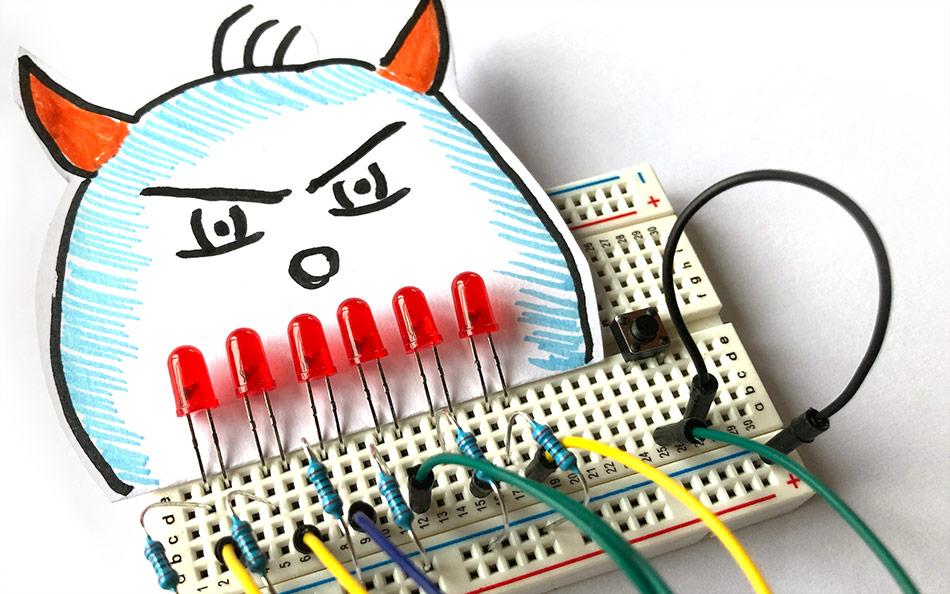 Zähneputz-Timer mit Arduino und sechs LEDs