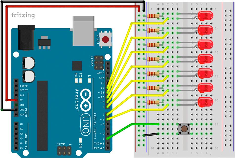 Zähneputz-Timer mit Arduino