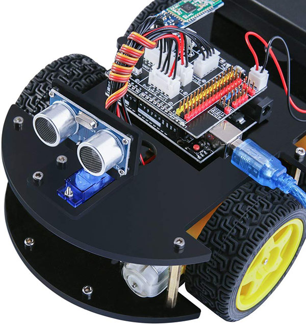 Arduino Roboter Ultraschall Sensor auf Servo Motor