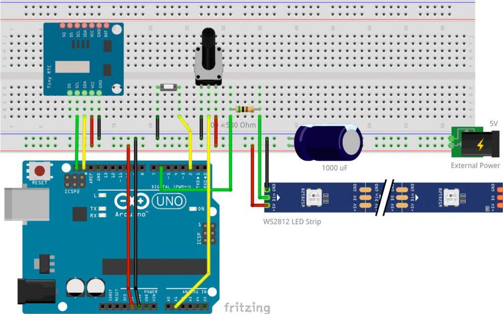 Arduino Adventskalender Schaltplan