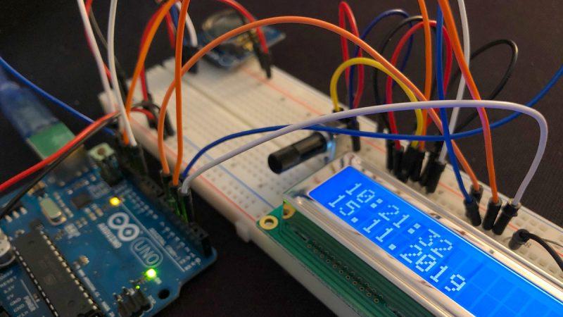 Arduino Uhrzeit RTC LCD