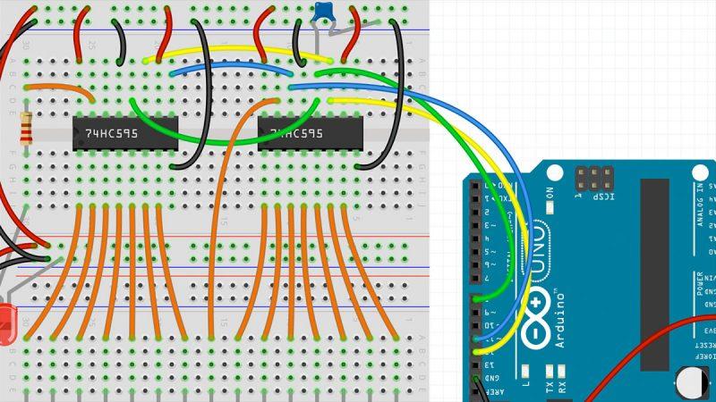 Schieberegister 74hc595 Arduino