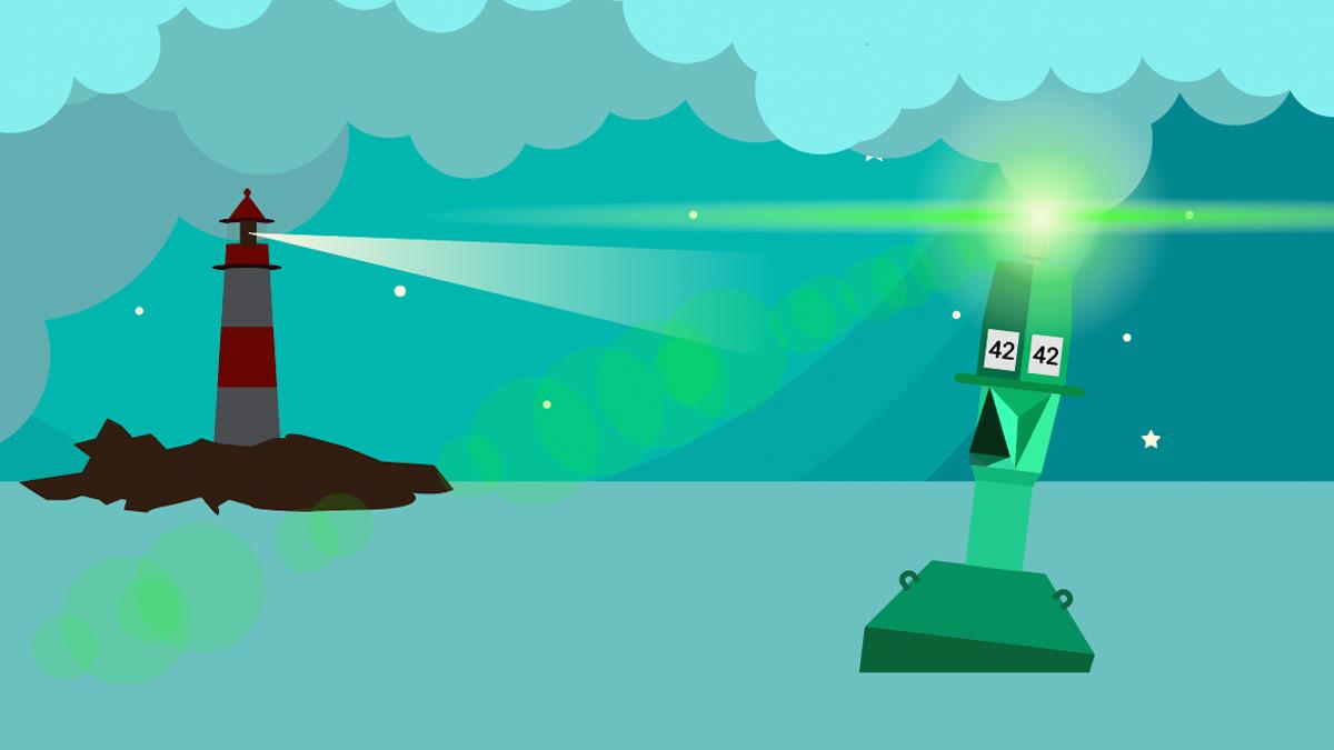 Leuchtturm und Leuchttonnen mit Arduino