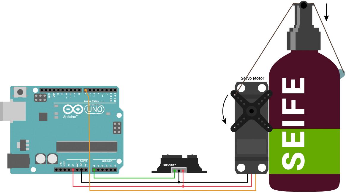 Arduino berührungsloser Seifenspender