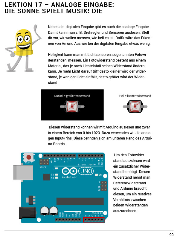 E-Book: Arduino für Anfänger und Anfängerinnen – Beispielseite 1