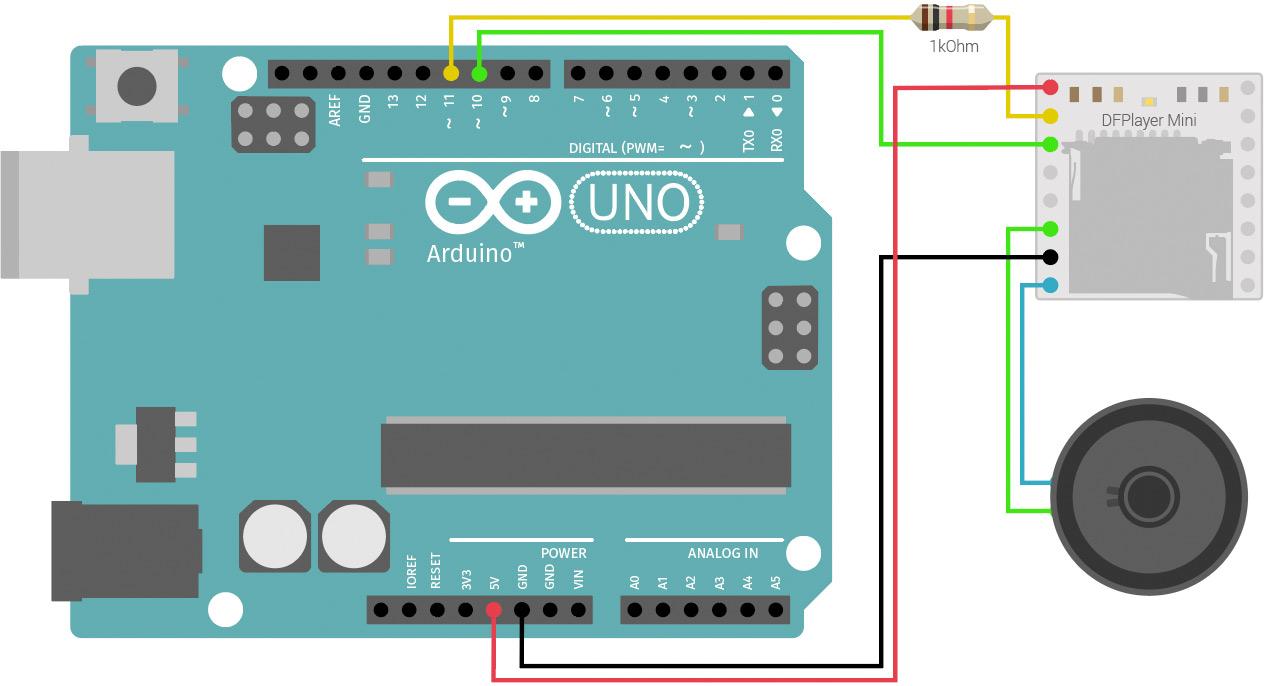 DFPlayer Mini mit Arduino Schaltung