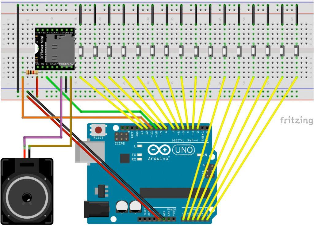 Sound Machine mit Arduino Schaltplan