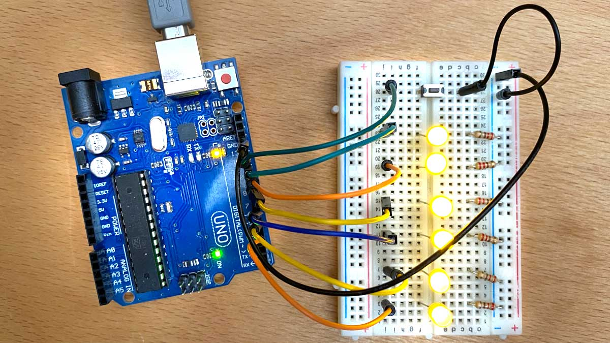 Kronleuchter mit Arduino Schaltung