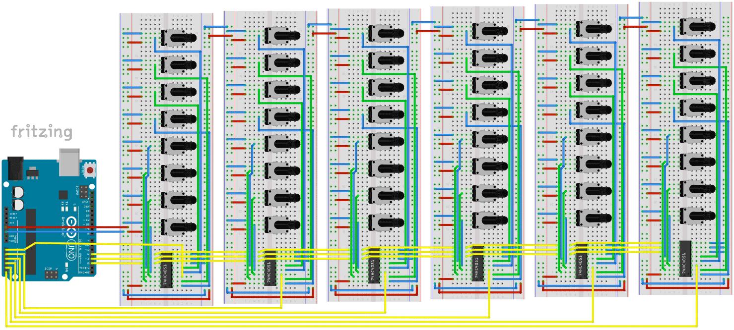 74HC4051 mit Arduino –So liest man sehr viele Potentiometer aus